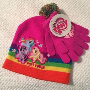 My Little Pony hat and gloves NWT